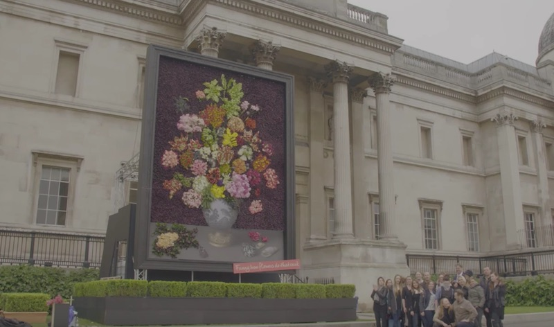 Flowers bring Art to Life at The National Gallery London