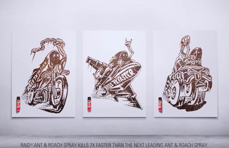 Raid® Roach Art