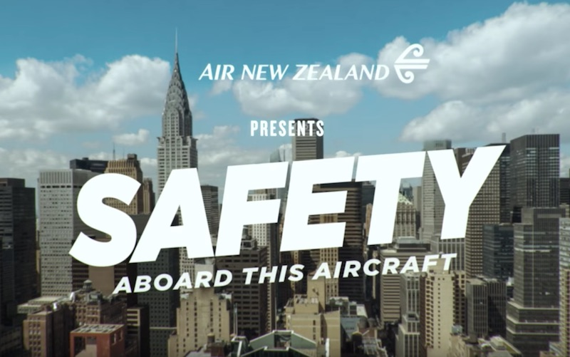 Safety in Hollywood #AirNZSafetyVideo