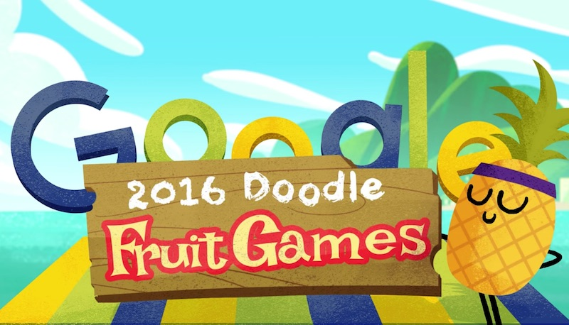 2016 Doodle フルーツゲーム