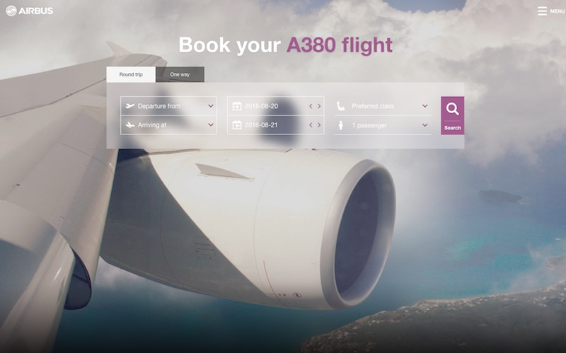 IflyA380 : Booking