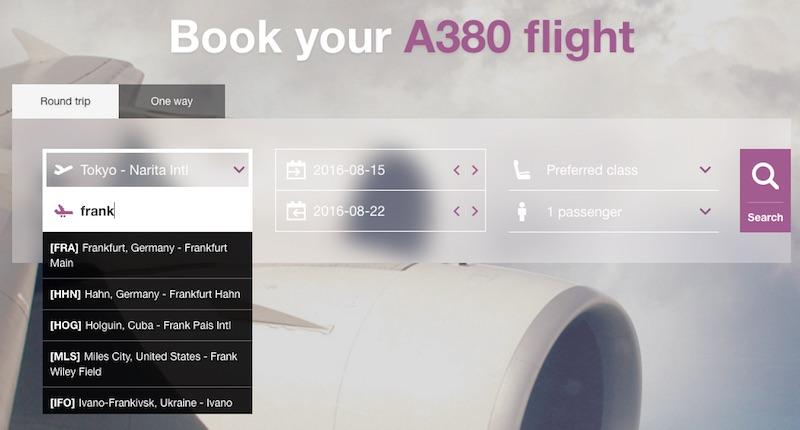 IflyA380 : Booking