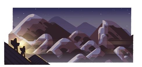 Google 今年から祝日の山の日を記念したロゴに!
