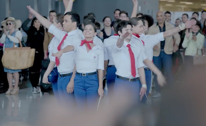 Olympic flashmob, by Graphene to LATAM Airlines