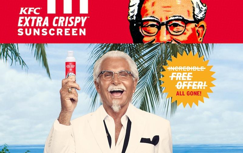 KFC Extra Crispy Sunscreen