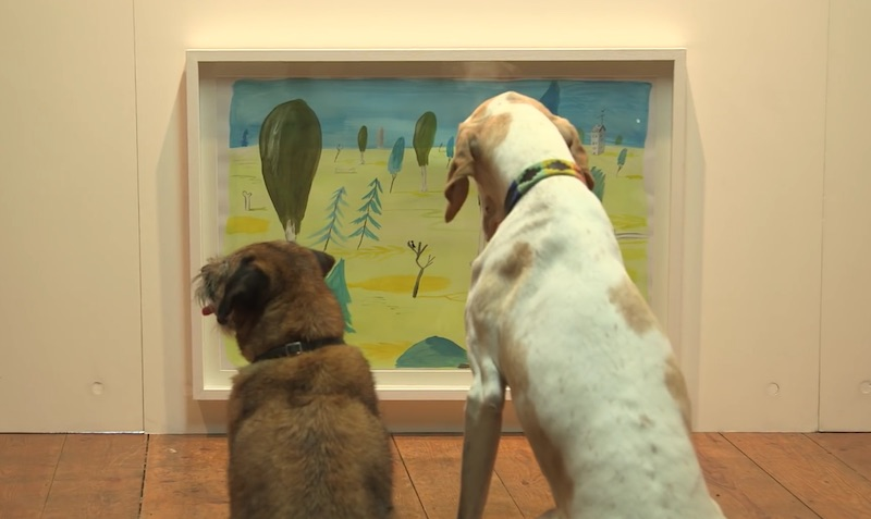 The first contemporary art exhibition for dogs