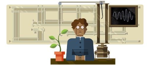 Google 物理学者でありSFの父であるサー・ジャガディッシュ・チャンドラ・ボース生誕158周年記念ロゴに!