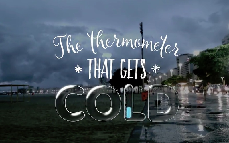 The Thermometer that gets cold