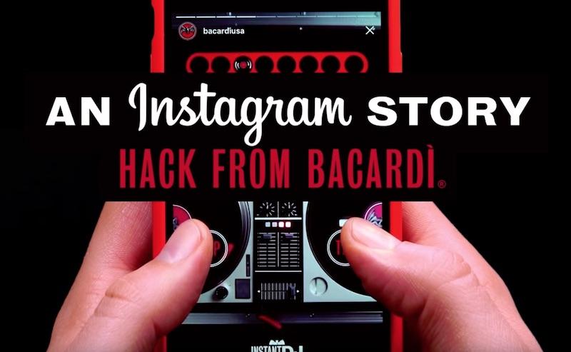 BACARDÍ InstantDJ Instagram Story