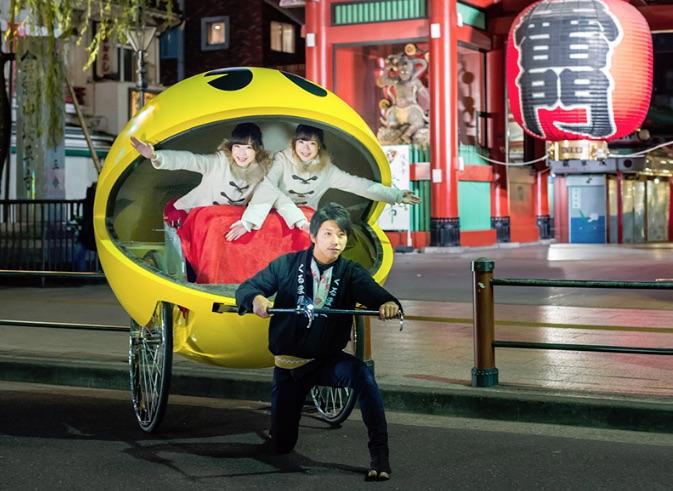 パックマン人力車 | PAC-MAN's rickshaw night cruising
