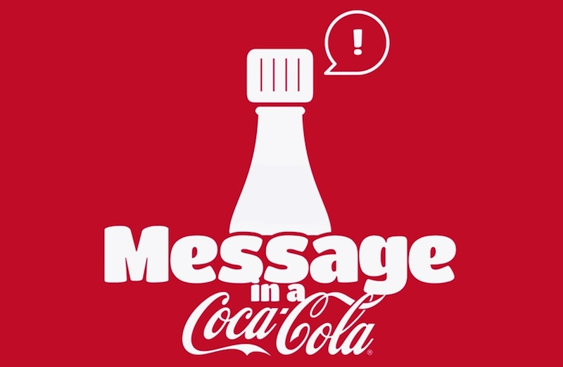 Message in a Coca-Cola bottle