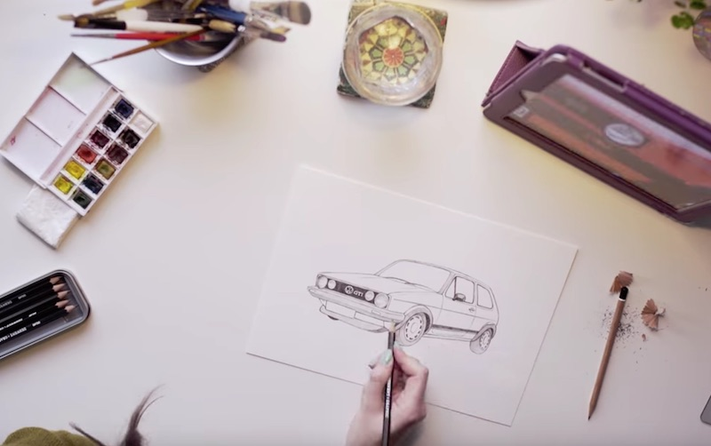 Volkswagen Golf GTI gif: How we made it