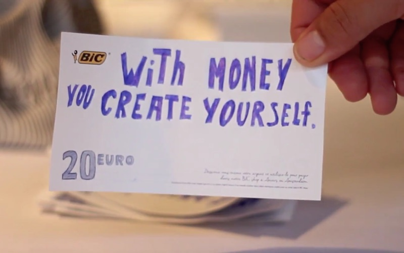 What if you can pay with creativity?