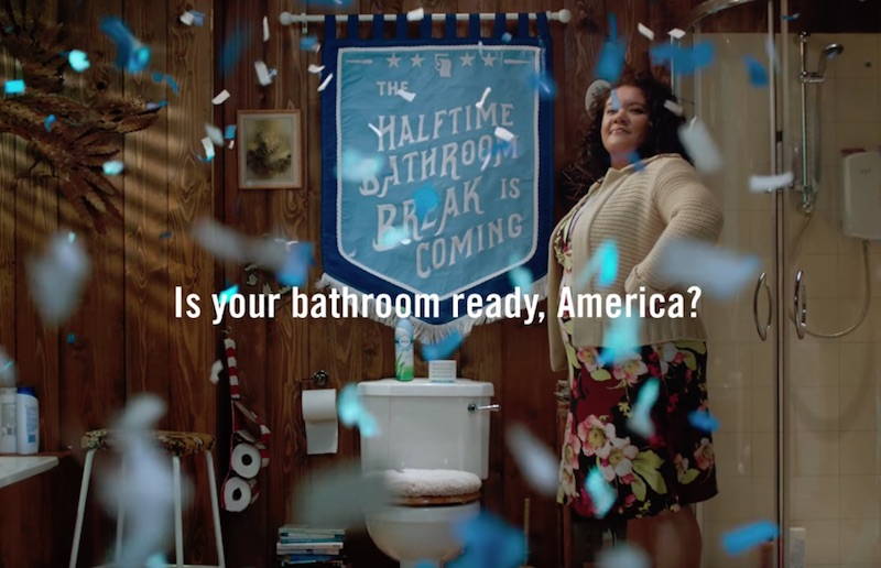 Halftime #BathroomBreak