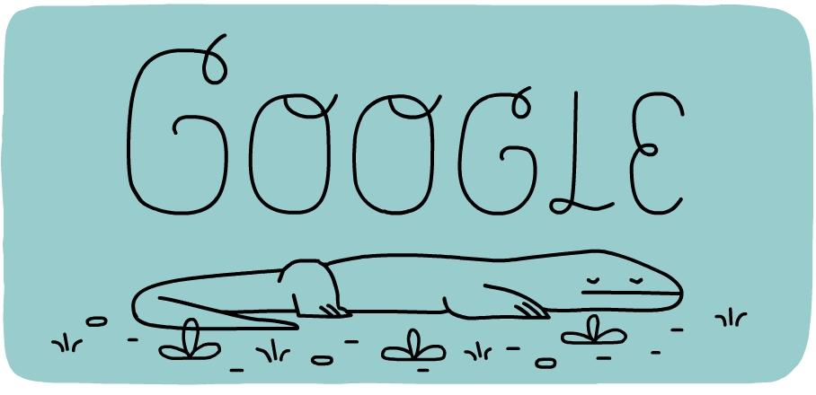 Google コモド国立公園設立37周年でコモドオオトカゲクイズロゴに!