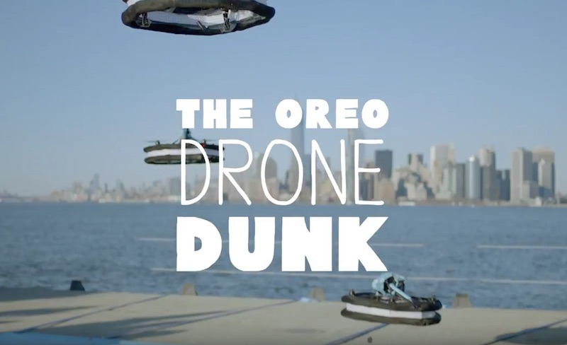 OREO Dunk Challenge The Drone Dunk