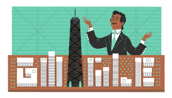 Google 構造技術者ファズラー・ラーマン・カーン生誕88周年ロゴに!