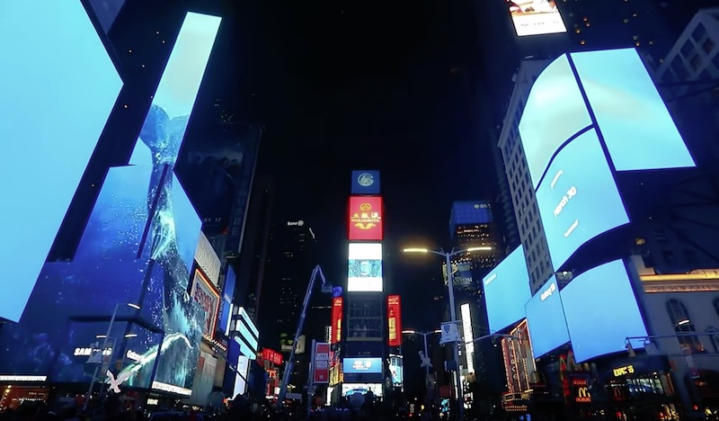Samsung Galaxy S8 Times Square Takeover