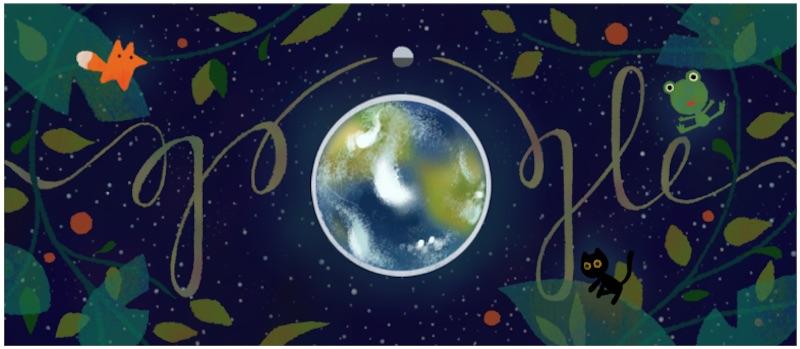 Google アースデーを記念して、地球のことを考えるロゴに!