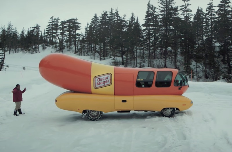 Wienermobile makes first ever visit to Whittier, Alaska