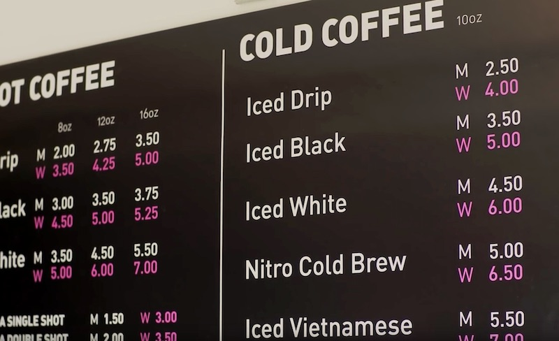 Coffee Shop Charges Women More Than Men