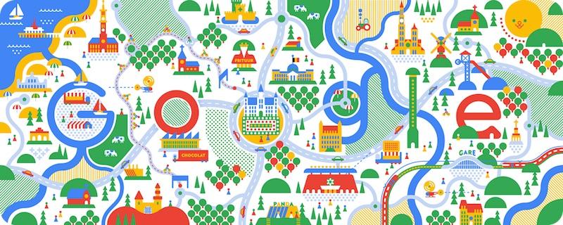 Google ベルギーの建国記念日記念ロゴに!