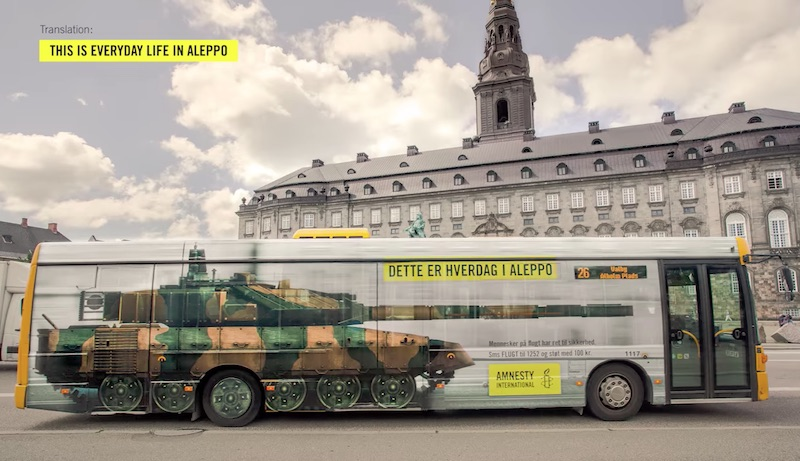Amnesty International | Bus Tank
