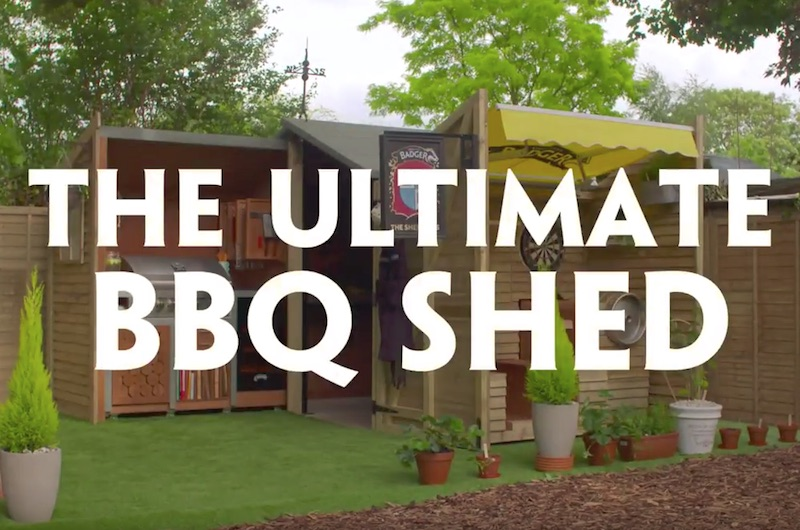 A BBQ fan just won this ultimate beer shed