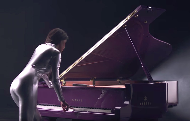 Prince - Yamaha Purple Piano
