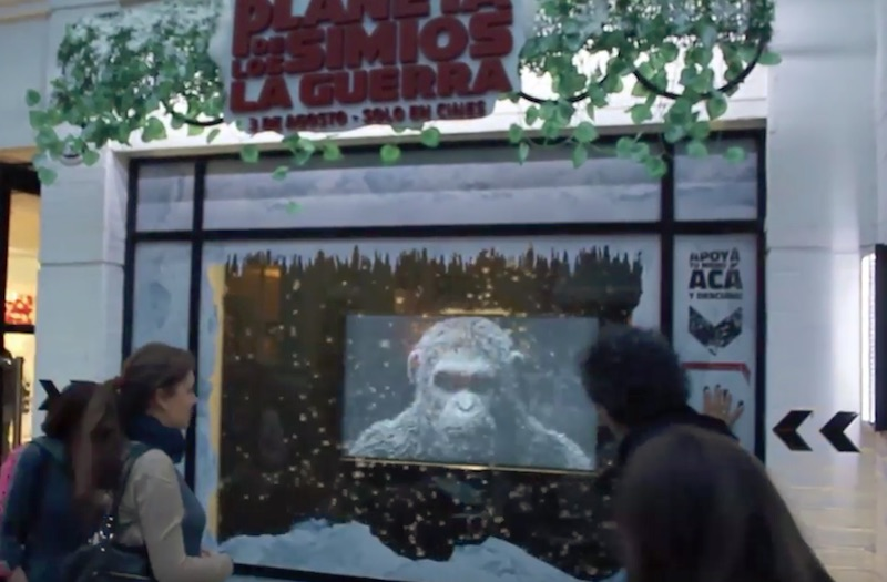 War for the Planet of the Apes │ Interactive window display