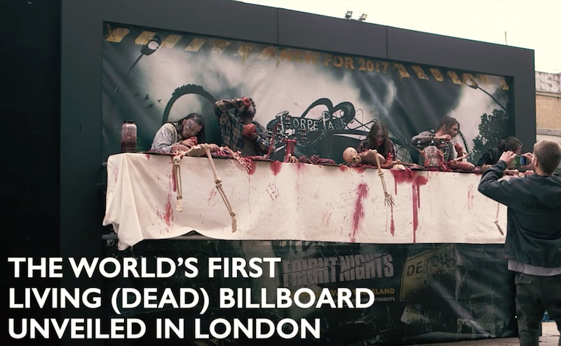 THORPE PARK Resort FRIGHT NIGHTS Living Billboard