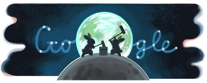 Google 中秋の名月(中秋節)記念ロゴに!