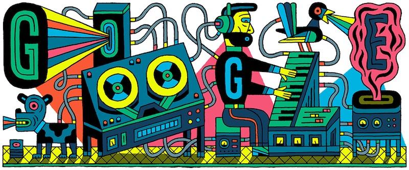 Google エレクトロニック・ミュージック・スタジオ66周年記念ロゴに!