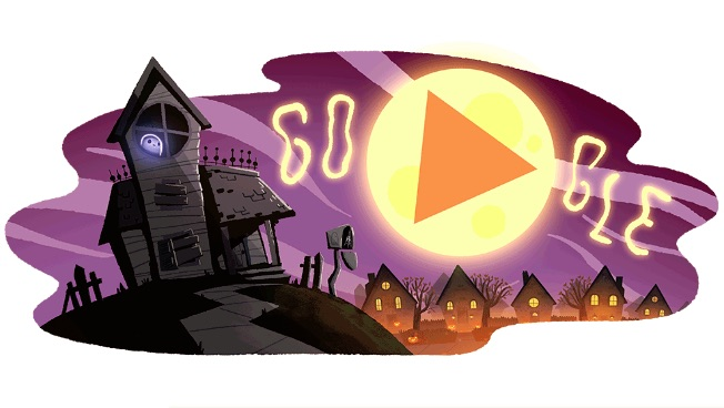 Halloween 2017 Google Doodle Jinx's Night Out
