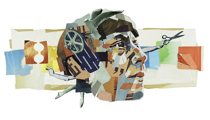 Google ドイツ出身の芸術家ハンナ・ヘッヒ生誕128周年記念ロゴに!