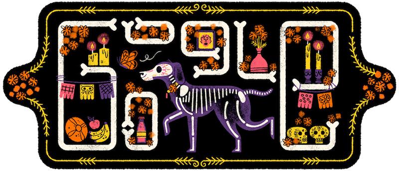 Google メキシコの死者の日を記念したイラストロゴに!