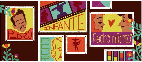 Google メキシコの歌手で俳優でもあるペドロ・インファンテ生誕100周年記念ロゴに!