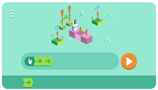 Google 子供向けコーディング50周年を記念して、プログラミングゲームができるロゴに!