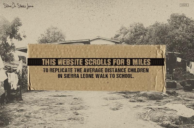 Shine on Sierra Leone - 9 Mile Scroll