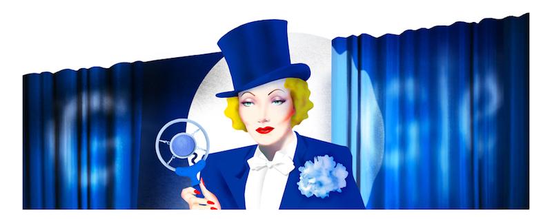 Google マレーネ・ディートリヒ生誕116周年記念ロゴに!