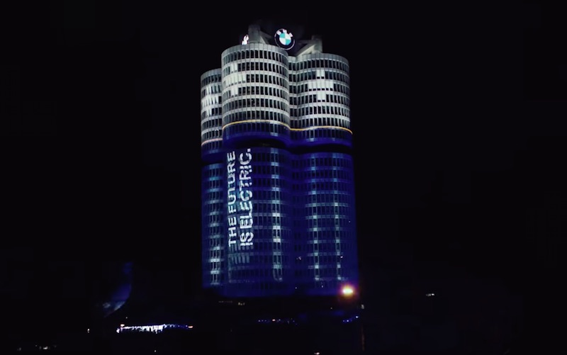 Illumination of the BMW Group Headquarters