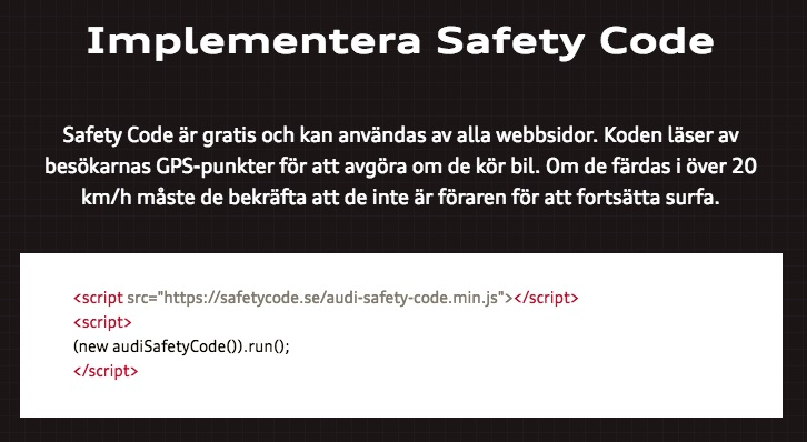 Audi Safety Code