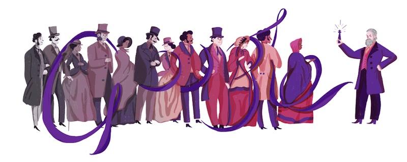Google ウィリアム・ヘンリー・パーキン卿生誕180周年記念ロゴに!