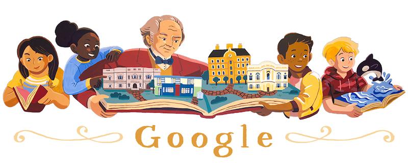 Google 慈善家のジョージ・ピーボディを称えたロゴに!