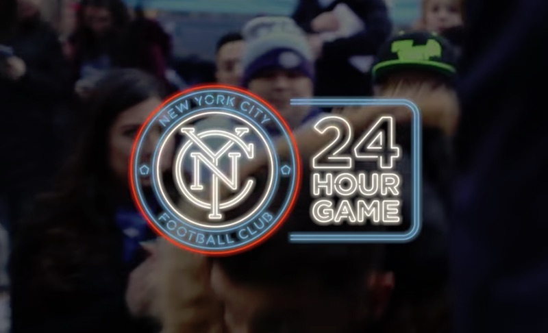 24 Hour Game at Rockefeller Center | #SoccerNeverSleeps