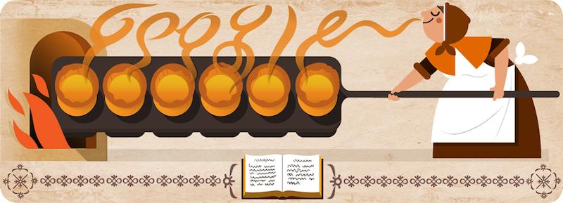 Google イギリスの料理家ハナー・グラス生誕310周年記念ロゴに!