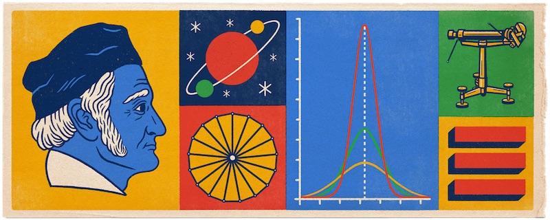 Google ヨハン・カール・フリードリヒ・ガウス生誕241周年記念ロゴに!