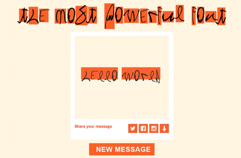 The Most Powerful Font