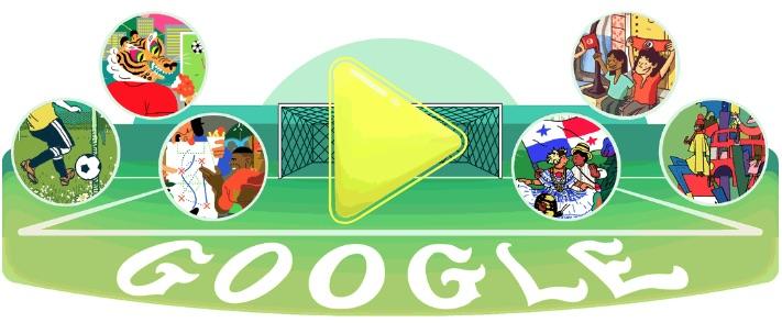 Google 2018年ワールドカップ - 5 日目ロゴに!