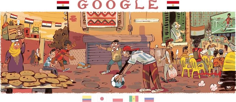 Google 2018年ワールドカップ - 6 日目ロゴに!